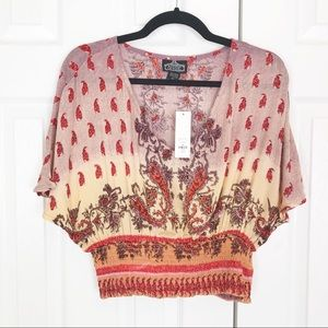 Francesca's Collections Tops - Francesca's Serena Smocked Waist Blouse NWT